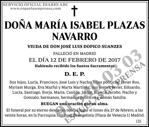 María Isabel Plazas Navarro